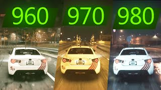 NEED FOR SPEED  GTX 960 vs GTX 970 vs GTX 980  1080p i7 4790 Maxed Out