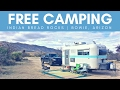 Free Camping at Indian Bread Rocks in Bowie, AZ 💯🌄😀 RV Living & Van Boondocking | Arizona Camping