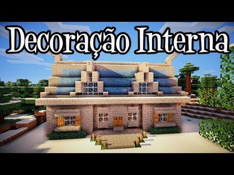 Tutoriais Minecraft: Decoração Interna da Casa na Neve