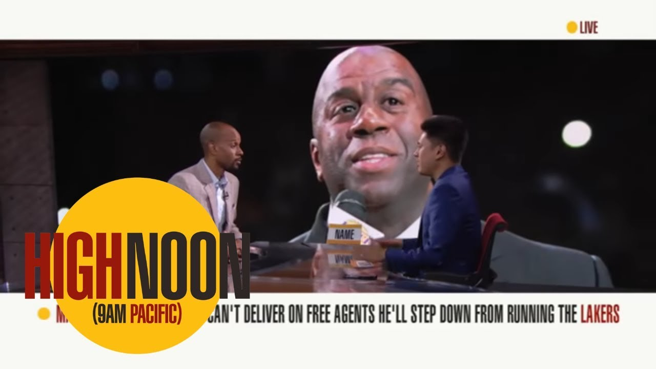 Bomani Jones: If there's any pressure on Magic [Johnson], it starts now | High Noon | ESPN