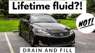 Changing My Transmission Fluid! - Lexus IS 350