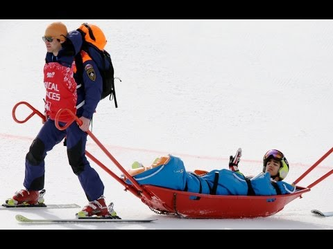 Snowboarding and alpine Skiing crashes & fails at the Sochi 2014 Olympics
