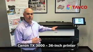 Canon TX 3000 Plotter Printer & MFP Overview - TAVCO