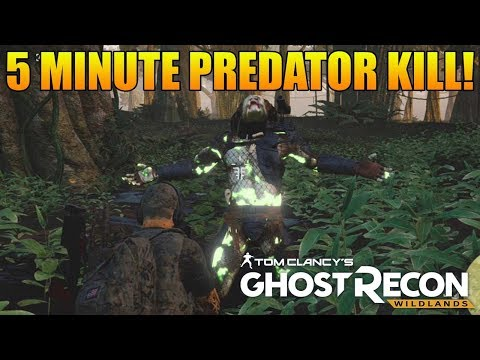 PREDATOR BOSS FIGHT BEAT IN 5 MINS! | Predator Fight Funny Moments (Ghost Recon Wildlands Predator)