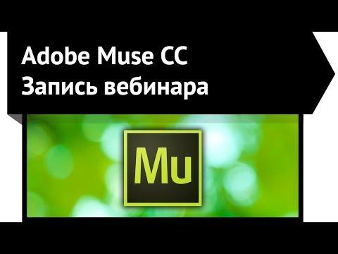 Adobe Muse запись вебинара - Video website