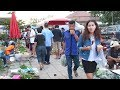 Thai laos market - Asian street food in talad tay muang , Laos food