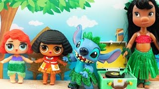 LOL Surprise Babies Turn into Moana and Ariel ! Toys and Dolls Fun for Kids with Custom LOLs   SWTAD