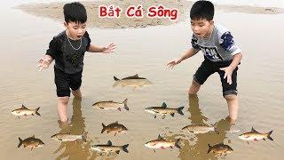 Trò Chơi Bắt Cá Thật Dưới Sông ♥ Min Min TV Minh Khoa