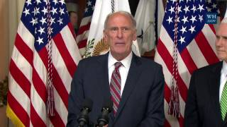 Vice President Pence Swears-in Director of National Intelligence Dan Coats