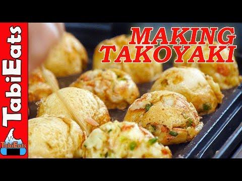JAPANESE STREET FOOD-How to Make TAKOYAKI (Step-by-Step)