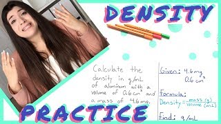 Step by Step Density Practice Problems to Help You Pass Chemistry