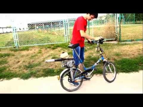 Rower z silnikiem spalinowym Pocket Bike