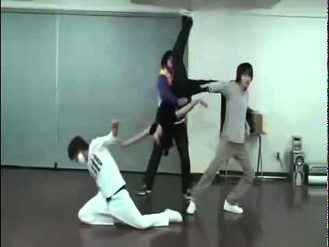 Super Junior Sungmin, Eunhyuk, Leeteuk, Shindong Dance Battle Practice video