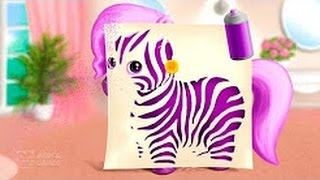 Pony Sisters in Hair Salon - Horse Hairstyle Makeover - magic animals - gameplay Video TutoTOONS