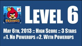 Angry Birds Friends :: Week 51 :: Level 6 :: May 6th, 2013 :: 122,450pts :: With/Without Powerups