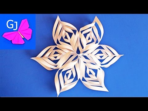 Новогодние снежинки с бумаги своими руками