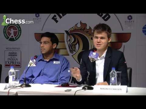 Chess World Championship Game 8: Magnus Carlsen - Viswanathan Anand