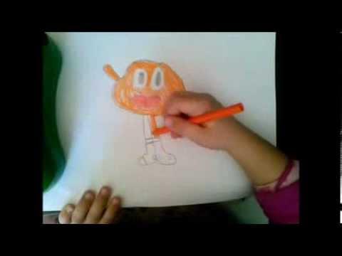 Como dibujar y colorear a Darwin paso a paso POR NIÑA DE 5 AÑOS ...