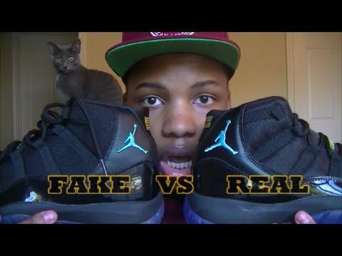 Comparison #1: Authentic Vs. Replica Air Jordan Retro 11