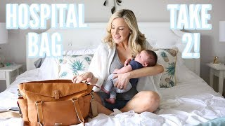 WHAT I ACTUALLY USED IN MY HOSPITAL BAG + WHAT THEY GAVE ME! | LABOR & DELIVERY
