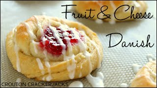 Quick and Easy (semi) Homemade Danish Pastries!! Fruit and Cheese Danish Recipe