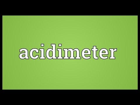Header of acidimeter