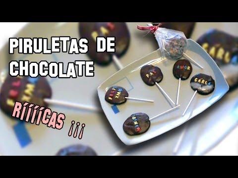 Recetas de Cocina | Como Hacer Piruletas de Chocolate