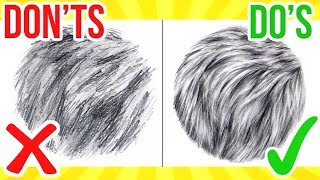DO'S & DON'TS: How To Draw Fur | Step By Step Drawing Tutorial