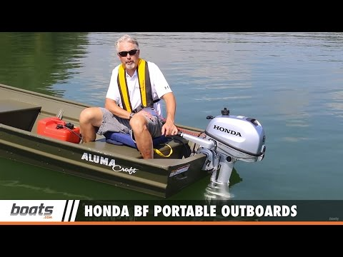 Honda BF Portable Outboards: First Look Video