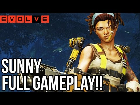 Sunny Gameplay - Evolve Tier 4 Hunters!! Evolve Gameplay Walkthrough - Multiplayer (pc 1080p) video