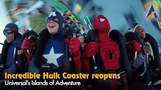The Incredible Hulk Coaster reopening ceremony at Universal's Islands of Adventure