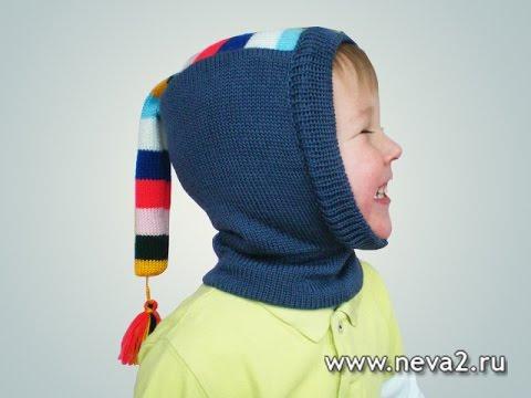 Вязание детской шапочки на машине 78
