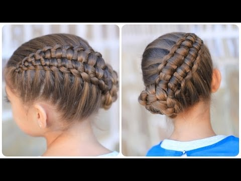 Zipper Braid Updo | Cute Girls Hairstyles - YouTube