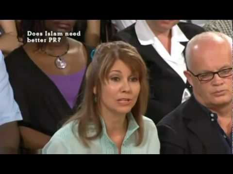 Kristiane Backer In Debate About Islam On British TV - The Big Questions 1/2