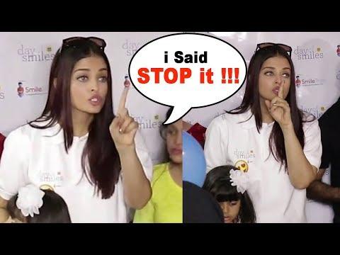 Aishwarya Rai Gets ANGRY on Media Reporters
