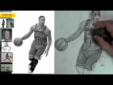 Derrick Rose Drawing Step by Step to Draw Derrick Rose