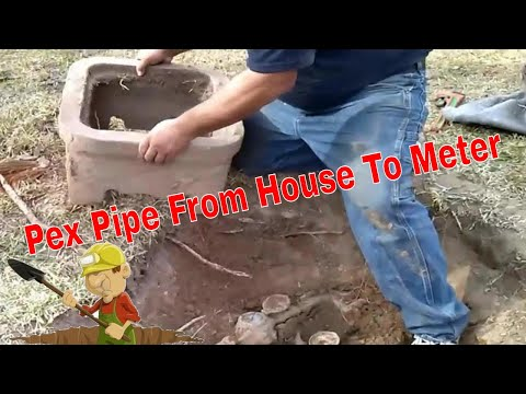Water Line To House Replacement Pex Pipe Youtube