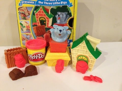 Play Doh Three Little Pigs Playset Three Little Pigs PlayDough Story from Play-Doh