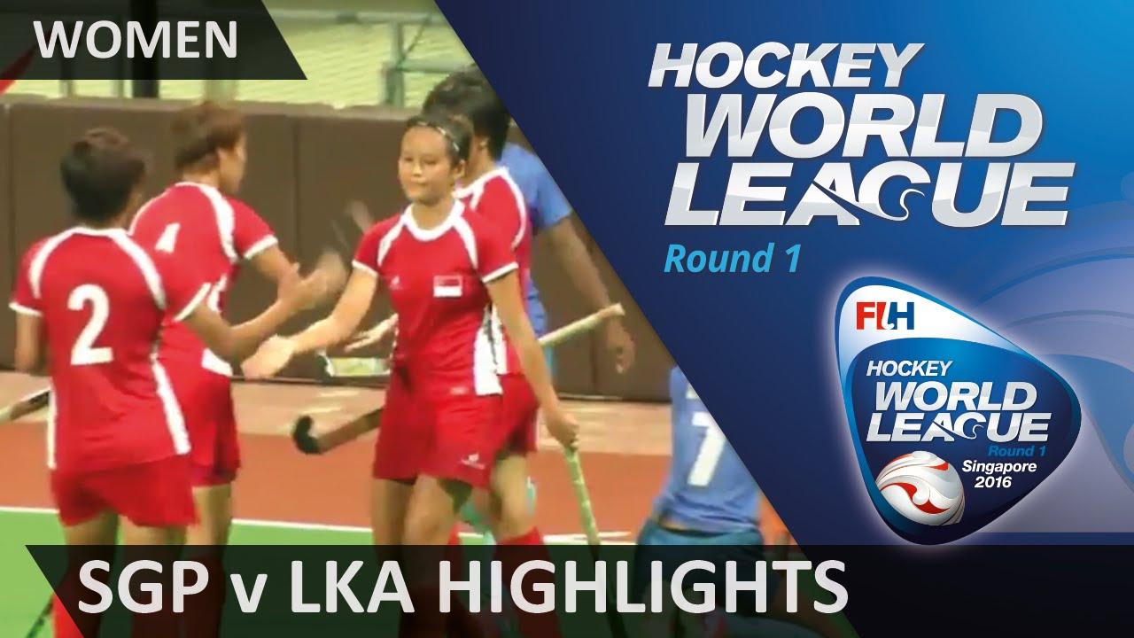 Singapore vs Sri Lanka Women's Match Highlights - Hockey World League Round 1 - Singapore