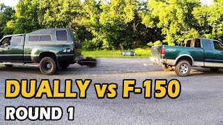 $500 F150 vs DURAMAX Tug of War | Truck Central