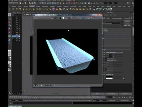 Maya Vray Water Tutorial - Part One (Displacement-Map)