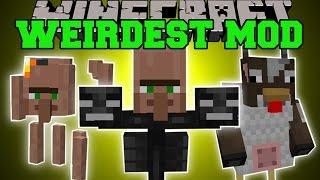 Minecraft: WEIRDEST MINECRAFT MOD (RUN FOR YOUR LIFE!!!) Mod Showcase