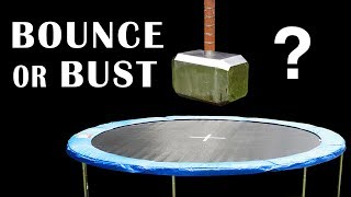 91lb THOR HAMMER v TRAMPOLINE - & Space Hopper Episode 8 - BrainfooTV