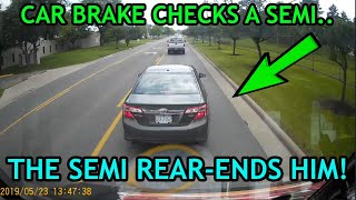 Best of Brake Check Gone Wrong (Insurance Scam) & Instant Karma 2019 |Road Rage, Crashes Compilation