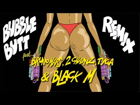 Major Lazer - Bubble Butt (remix) [feat. Bruno Mars, 2 Chainz, Tyga & Black M] video