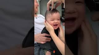 Funny catting baby
