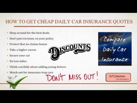 Tips To Get Daily Car Insurance Quotes Cover With Free Online Service