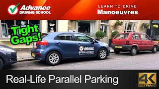 Real-Life Parallel Parking  |  Learn to drive: Manoeuvres