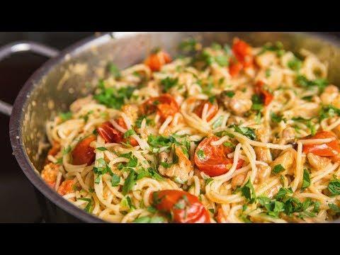 Chicken pasta recipe | ASMR Cooking Sounds