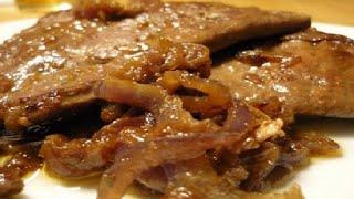 Свиная печень с луком - вкусное и полезное блюдо к гарниру